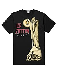 Led Zeppelin Hermit Black Band Black Tee