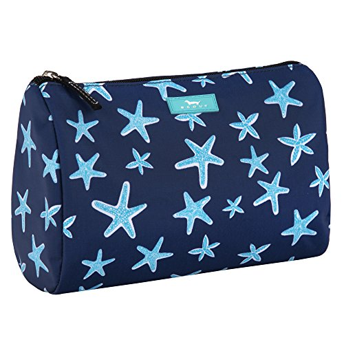 SCOUT Packin' Heat Makeup & Cosmetic, Accessory or Toiletry Bag, Interior Pocket, Water Resistant, Zips Closed, Fish Upon a Star