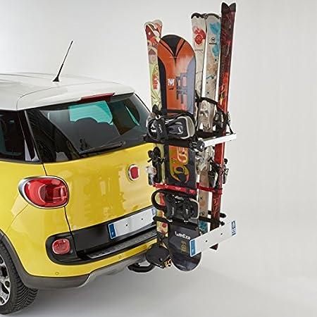 Mottez A022P Ares - Portasci/snowboard per gancio di traino