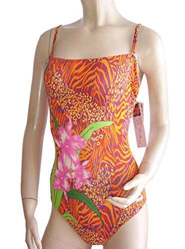 Solar - Traje de una pieza - Floral - para mujer orange/lila/gelb gemustert