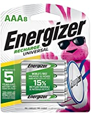 Energizer Rechargeable AAA Batteries Universal, 8 Count