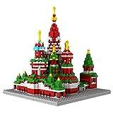 Micro Blocks, Vasile Assumption Cathedral Model, St Basil's Cathedral, Small Building Block Set, Nanoblocks Compatible, Not Lego Compatible