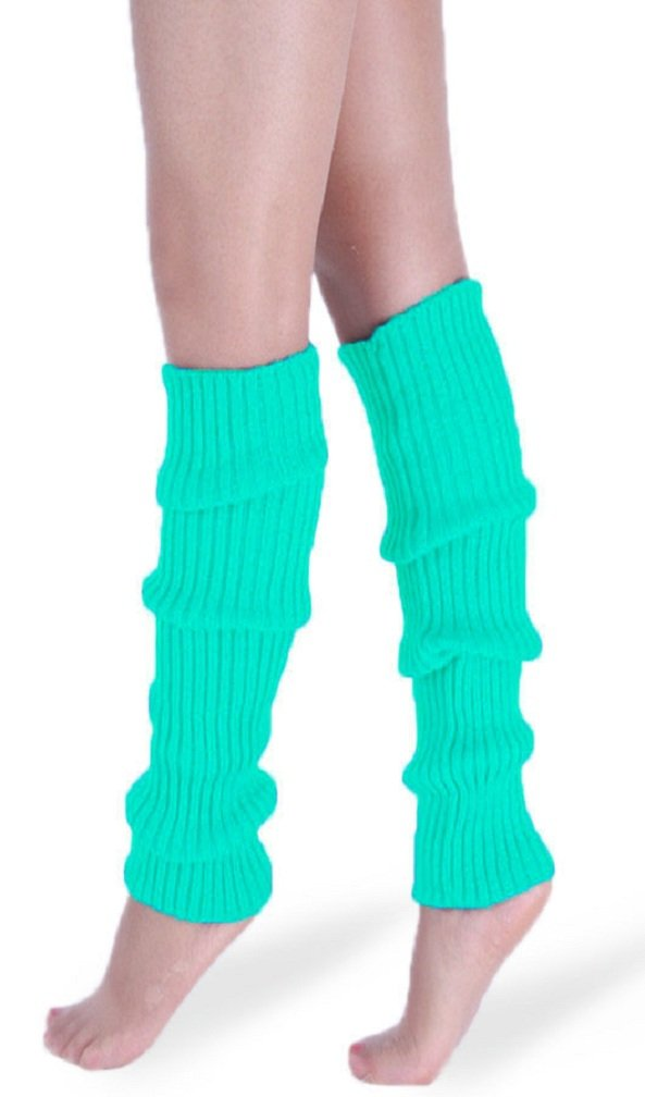 *daisysboutique* Retro Unisex Adult Junior Ribbed Knitted Leg Warmers Black)