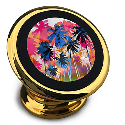 Baerg Universal Magnetic Phone Car Mounts Magnet Holder Colorful Coconut Tree Magnetic Mount for Phone 360¡ã Rotation -