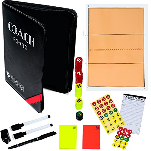 - Dry-Erase Volleyball Coaching Clipboard - Coach's Equipment that Includes Magnetic Board, Scorebook, Playbook, Whistle, Cards and Extras for Strategies, Techniques, and Plays - Best Multi-Sport Gift