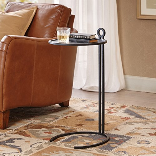 Percy Round Accent Table Black See below by Harbor House