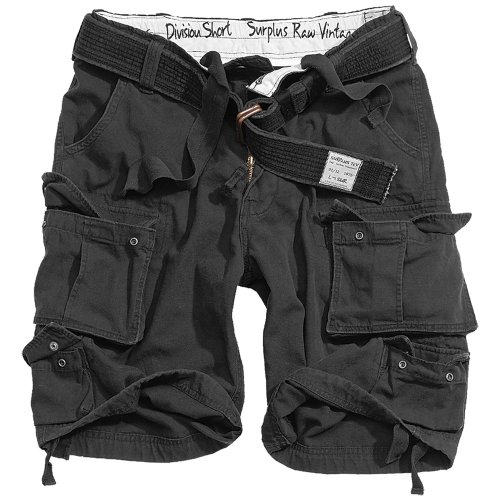 Negro Cortos De Division Trooper Pantalones PvAWqYCCw