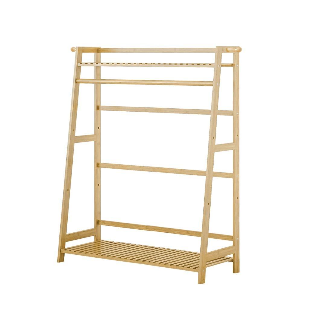 JIANXIN Plant Stand, Bamboo Floor Stand, Simple Rack, Adatto per Balcone Corridoio Soggiorno Uso Esterno, Dimensioni Multiple (Dimensioni   70cm)