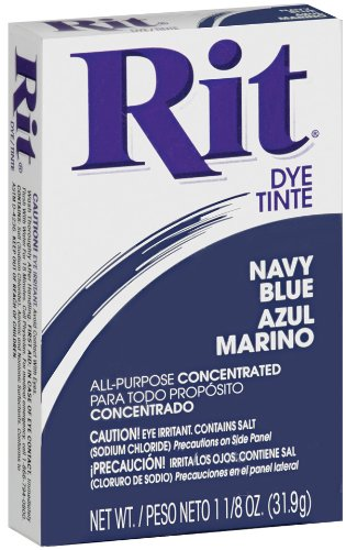 Rit All-Purpose Powder Dye, Navy Blue