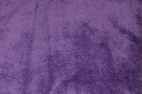 (Cozy Fleece Comfort Collection Velvet Plush Sheet Set, Twin, Purple)