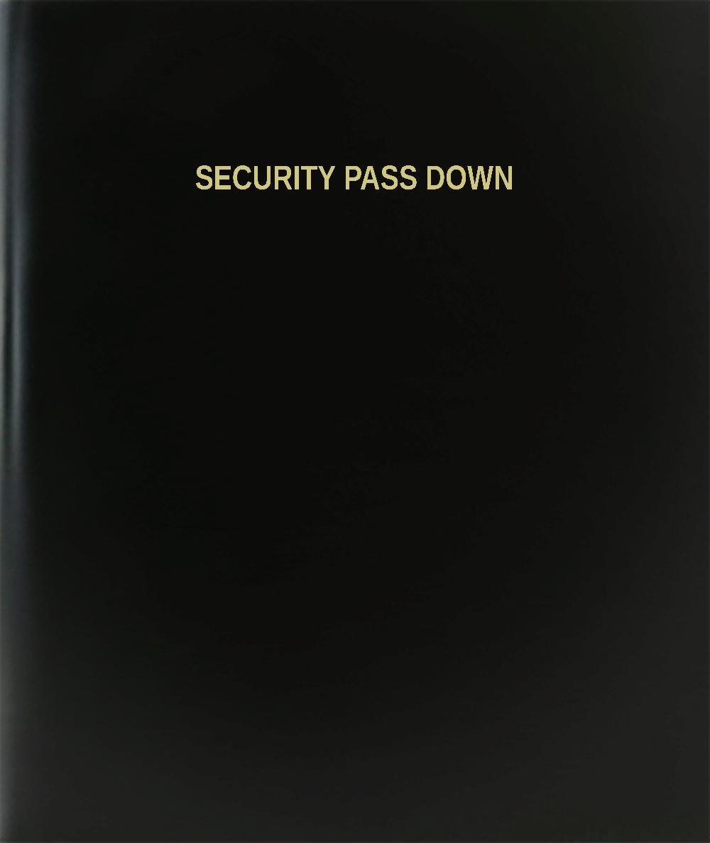 BookFactory® Security Pass Down Log Book / Journal / Logbook - 120 Page, 8.5''x11'', Black Hardbound (XLog-120-7CS-A-L-Black(Security Pass Down Log Book))