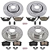 Power Stop K840 Front and Rear Z23 Evolution Brake Kit with Drilled/Slotted Rotors and Ceramic Brake Pads