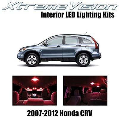 Xtremevision Interior LED for Honda CRV 2007-2012 (6 Pieces) Red Interior LED Kit + Installation Tool: Automotive