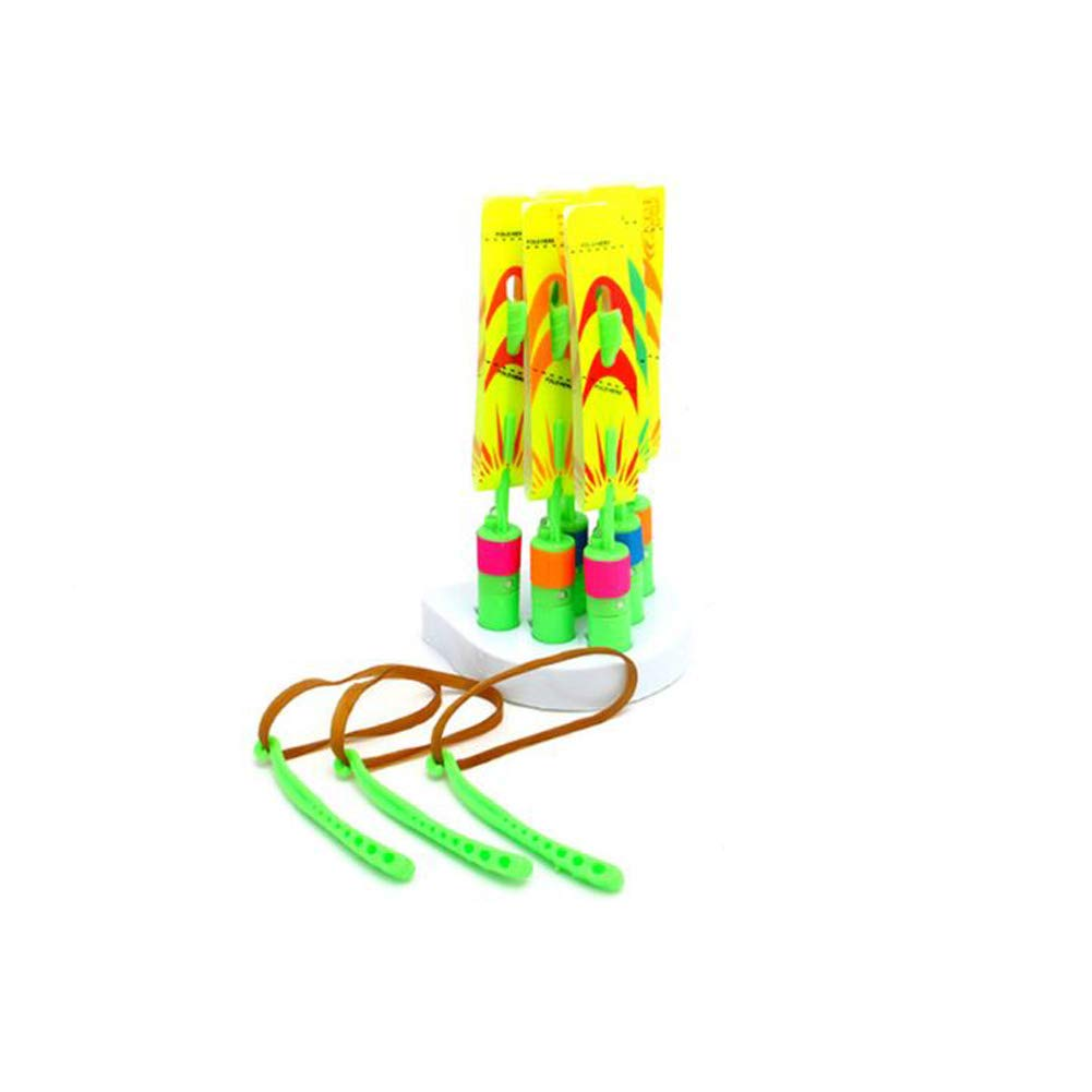 ANGINVATECH Rocket Helicopter Luminous Toys Mini Launcher Fluorescent Bamboo Slingshot Slingshot Flying Arrow Children's Toys Suitable for children aged 7-12