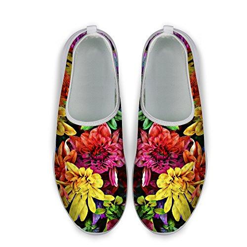 Pour U Conceptions Doux Motif Floral Femmes Casual Maille Confort Marche Chaussures De Course Multi 3
