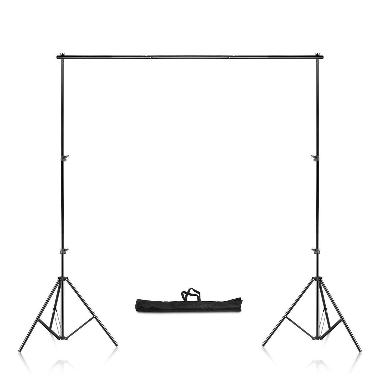 SaveOnMany 6.56 x 6.56 FT/ 2 x 2M Adjustable Background Support Stand Photo Backdrop Crossbar Kit