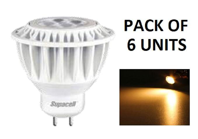 Supacell LED MR11/GU4Ampoule Spot–Lot de 6unités–4W de Puissance/MR11Fixation/280lumens–25W halogène lampe de remplacemen