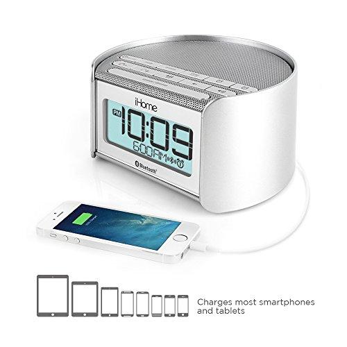 iHome iBT230 Bluetooth Bedside Dual Alarm Clock Radio with S