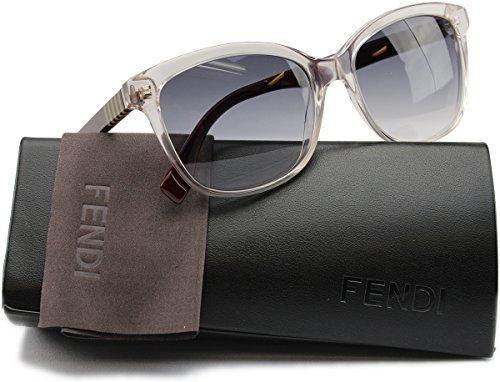 Fendy FF0054/S Sunglasses Gray Penq Burgundy w/Grey Gradient (0MQX) 0054 MQX BD 55mm - Fendy Sunglasses