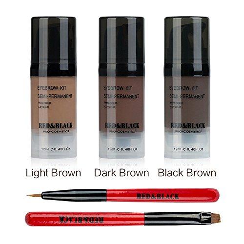 Red Amp Black Eyebrow Tint Kit Waterproof Long Lasting Eyebrow