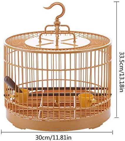 Whz-ZYF バードケージ通気旅行キャリアアセンブリのバードケージ付きフィーダー&給水器小さなペットの鳥プラスチックバードハウスツグミオウムケージ 、耐久性 (色 : B)