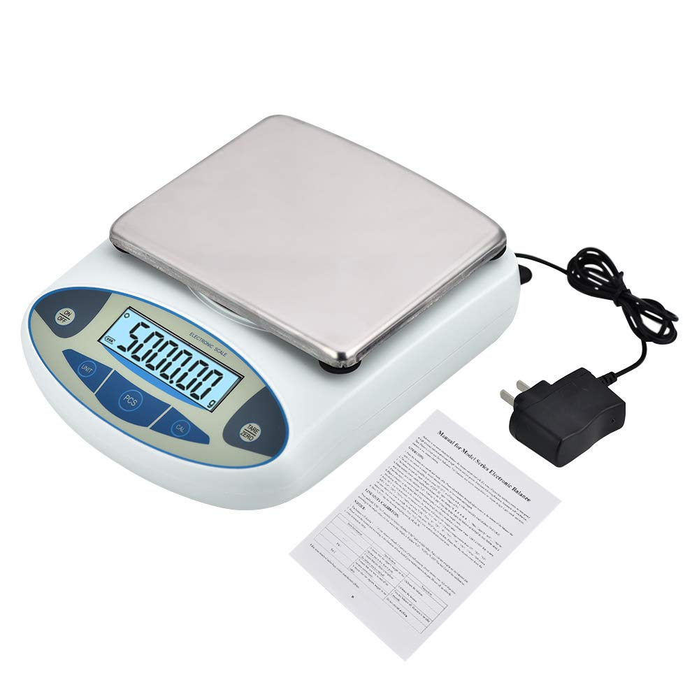 KOOKYOU Lab Analytical Electronic Balance Scale 0.01/5000 Gram Scale Laboratory Balance Digital Kitchen Balance Scale Jewelry Gold Scale Precision Balance by KOOKYOU
