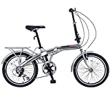 ORKAN 20' MTB Folding bike Sports Shimano 6 Speed Silver Bike SLIVER