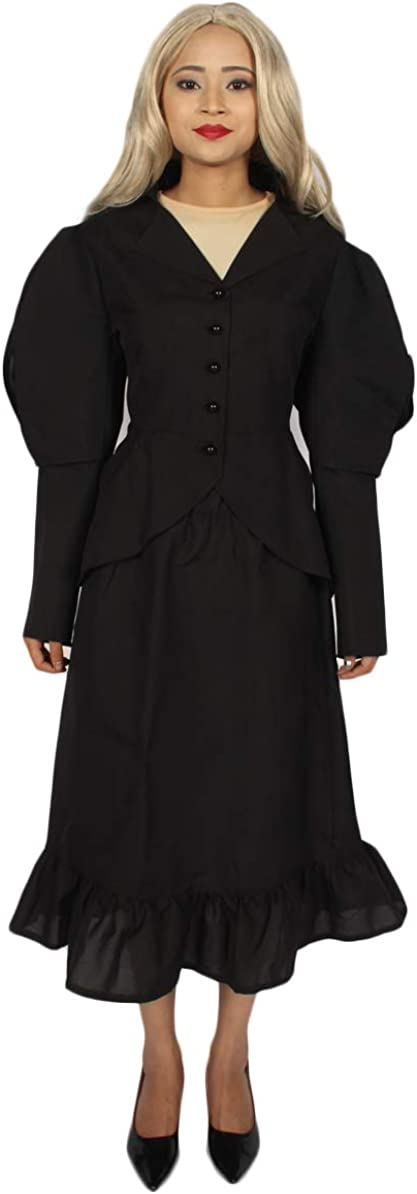 HPO Adult Women's Home for Peculiar Children Miss Peregrine Costume | Black Color Costume (X-Large)