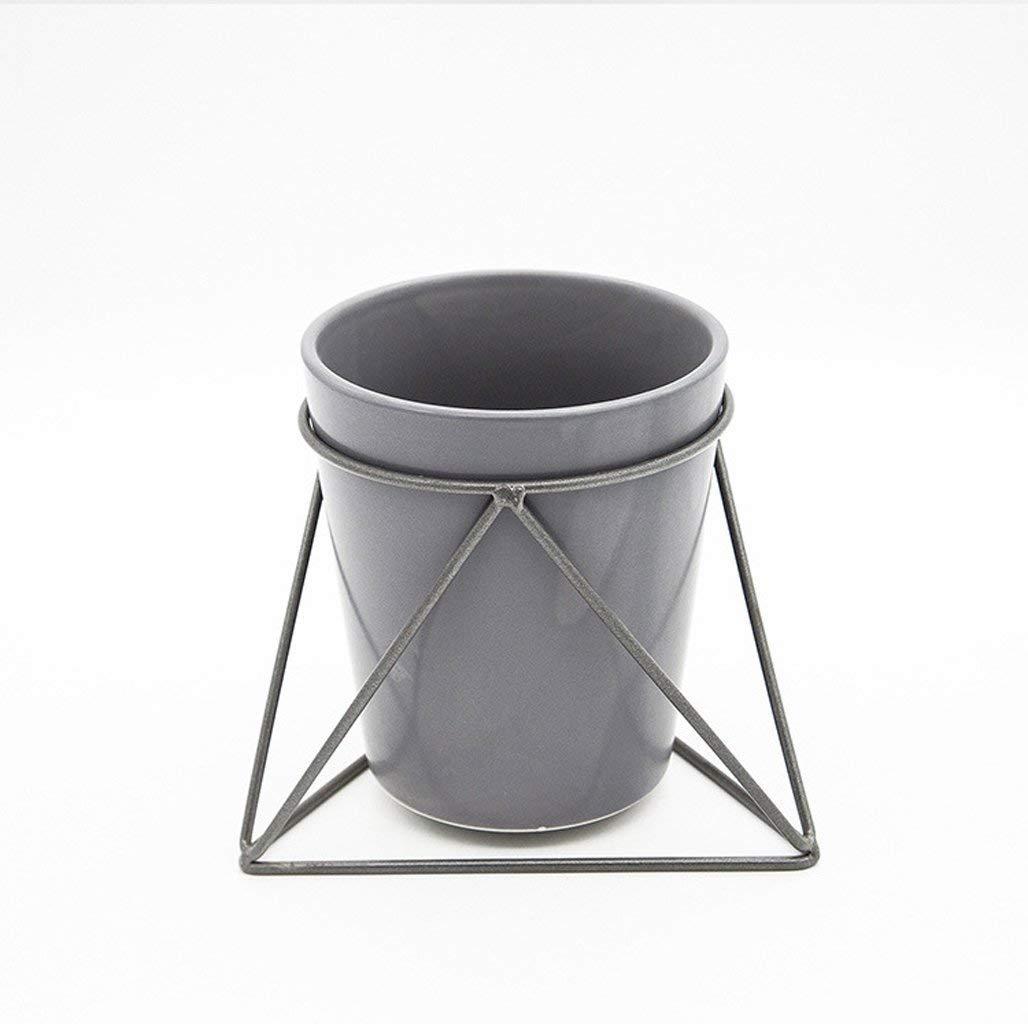 Zicue Flower Garden Vaso di Fiori Piante Cremagliera Combinazione di Vaso di Fiori in Due Pezzi con Base in Ceramica in Stile Nordico