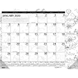 House of Doolittle 2020 Monthly Desk Pad Calendar, Doodle Black and White, 18.5 X 13 inch, January - December (HOD1876-20)
