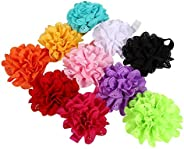 10 Pcs Baby Girl Headband, Hollow Flower Elastic Hair Band Cute Colorful Soft Headdress Hair Accessories for N