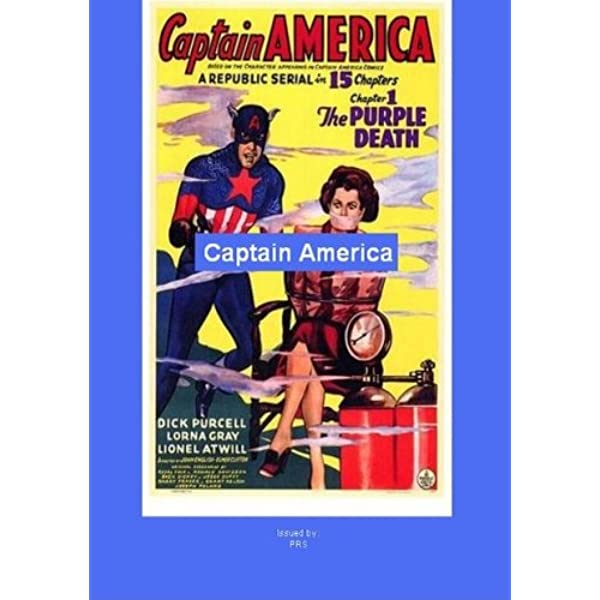 Dick Purcell cult serial movie poster 24x36 inches 1944 Captain America  #2