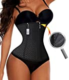 Gotoly Fitness Quick Weight Loss Zipper With Hook Waist Trainer Cincher Belt (XXL, Black)