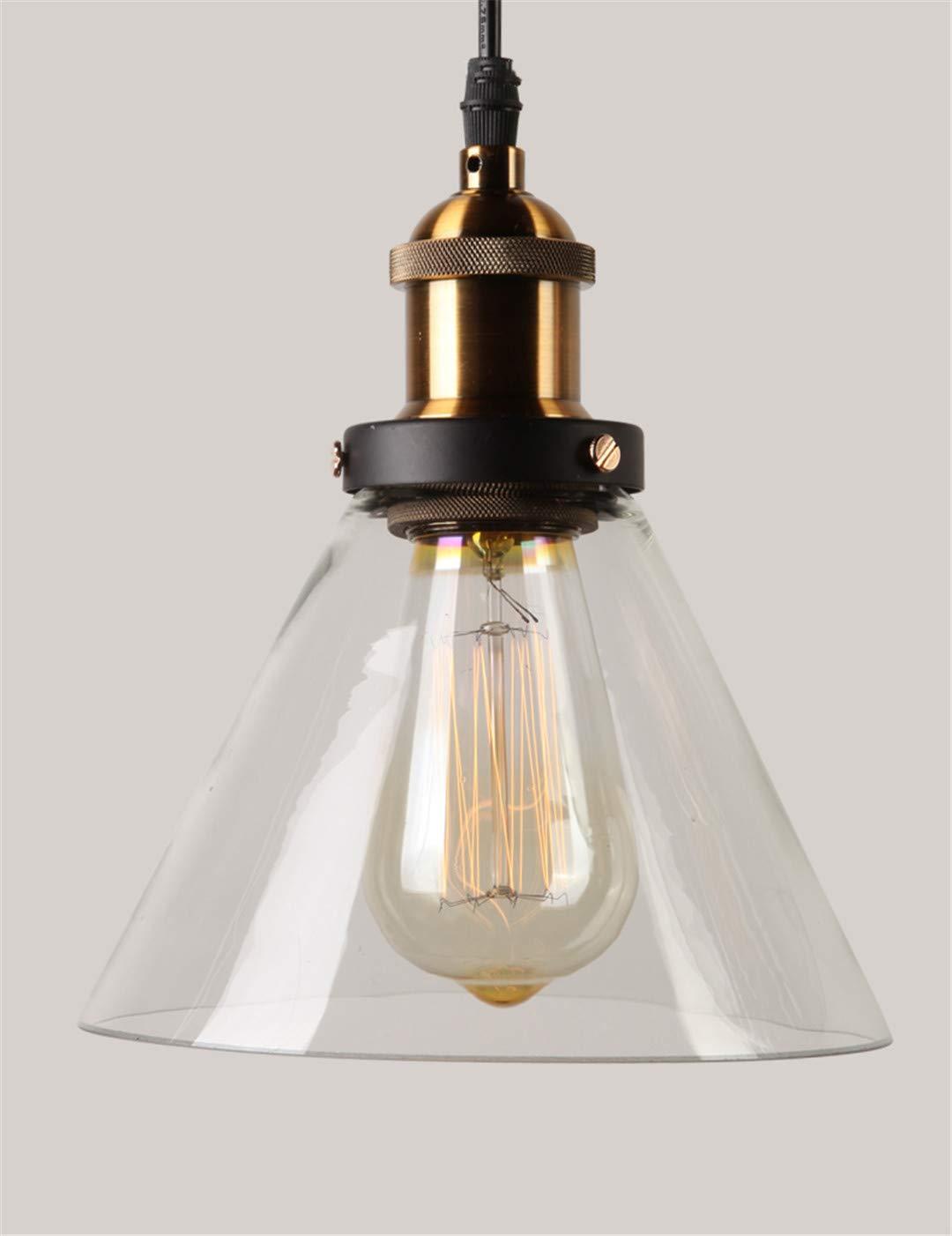 Vintage Pendelleuchten Glas Pendelleuchten Loft Industrie Hängelampe Smoky grau Modern Glanz Transparent-B