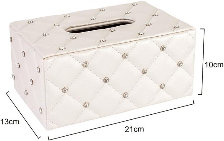 Caja de toalla de papel inicio Patrón de cuadros Dibujo cartón Caja de extracción de creativos de la servilleta Sala almacenamiento de tejido coche caja-B: Amazon.es: Hogar