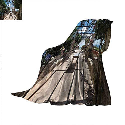 Amalfi Sofa (Italian Digital Printing Blanket Villa Rufolo Ravello Amalfi Summer Quilt Comforter 80