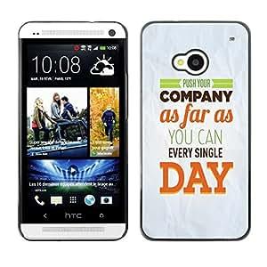 PC/Aluminum Funda Carcasa protectora para HTC One M7 Company Day Inspiring Paper Modern Message / JUSTGO PHONE PROTECTOR