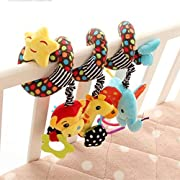 Kids Baby Animal Giraffe Design Crib Cot Pram Hanging Rattles Spiral Stroller & Car Seat Toy for Baby by TheBigThumb