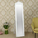 Festnight Free Floor Standing Mirror Antique Style Dressing Mirror Wooden Frame 63'' x 15.7''