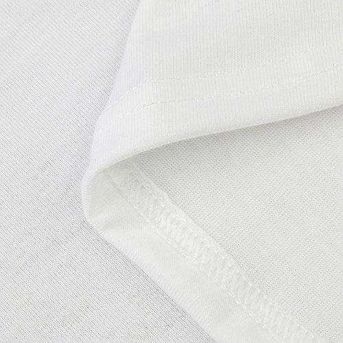 Damen Langarm Top Shirt Rundhals Spitze Patchwork Freizeit Gestreift Bluse Hemd