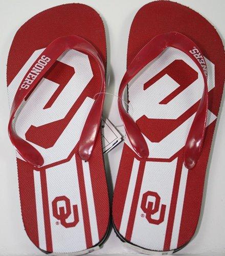 Oklahoma Sooners NCAA Unisex Big Logo Flip Flops