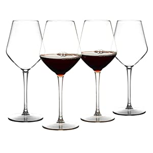 IDGIRLS Unbreakable Plastic Bordeaux Wine Glasses, BPA-free and Reusable Goblet, 100% Tritan Plastic shatterproof Glass with Long-Stemmed, 15 oz Dishwasher Safe Wine Cups, Set of 4