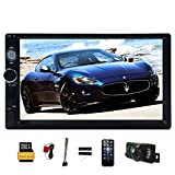 EinCar Linux system 7 Inch Touch Screen Car Stereo Receiver with GPS Navigation Double Din FM Radio Multimedia Player In Dash Bluetooth Car Audio 1080P Video + Backup Camera + 8GB Map Card