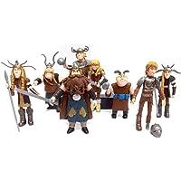 SAFAL Cómo Entrenar a tu muñeca dragón 8 Piezas Personajes de la película Modelo Muñecas de Juguete Regalos de…