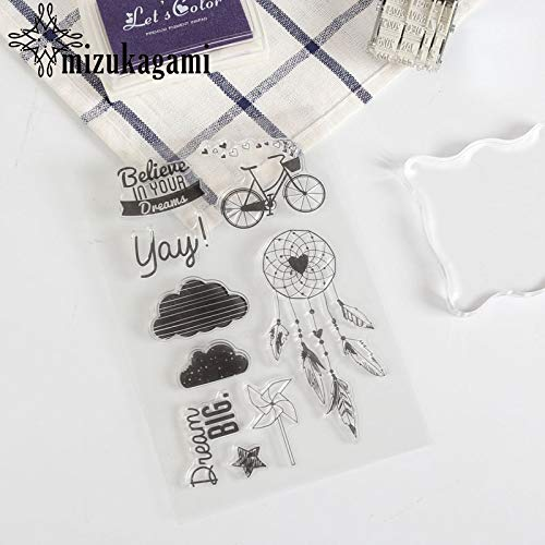 Laliva Transparency Silica Gel Stick Stationery Leaf Windmill Cloud Seal for DIY Scrapbooking Clear Photo Album Decorative