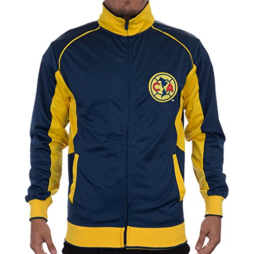 Club America Jacket Track Soccer Adult Sizes Soccer Football Official Merchandise FMF (S, BLUE)