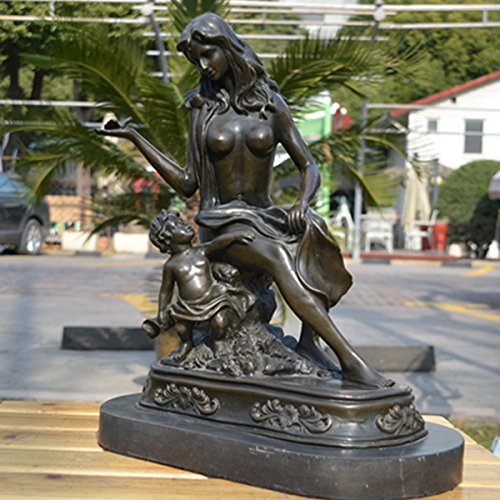 Art deco sculpture modern bronze drama butterfly mother and son statue 13 6 to top best shop - Statue deco moderne ...