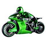 Homyl 1:16 Scale Children's Toy Simulated Model 2.4G High Speed Drift Remote Control Motorcycle Toy Gift for Boys Green