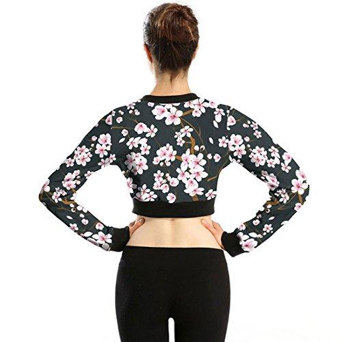 Belsen - Sudadera - para mujer Plum flower
