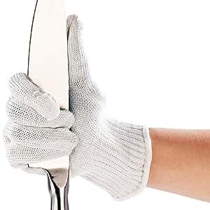AGT - Guantes de nailon y acero con protección para no cortarse